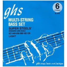 Image for 6LSTB Light Super Steels Electric Bass 6 String Set (27-126) from SamAsh