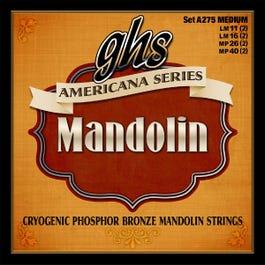 GHS A275 Americana Phosphor Bronze Mandolin String Set, Medium 11-40