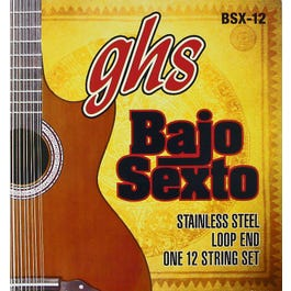 GHS BSX-12 Stainless Steel Bajo Sexto 12-String Set, 024-092