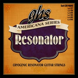 GHS CR1600 Americana Phosphor Bronze Resonator String Set, Regular 17-56