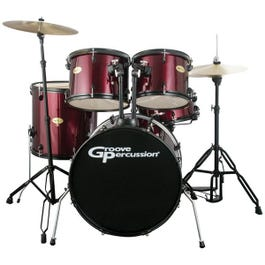 Image for DK120WRB 5 Piece Drum Set with Cymbals and Hardware from SamAsh