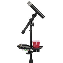 Gator Frameworks Mic Stand Accessory Tray with Drink Holder