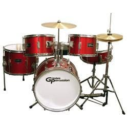 Image for JR200 5 Piece Children's Drum Set with Hardware and Cymbals, Red from SamAsh