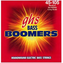 Image for M3045 Medium Boomers Electric Bass 4 String Set (45-105) from SamAsh
