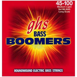 Image for ML3045 Medium Light Boomers Electric Bass 4 String Set (45-100) from SamAsh