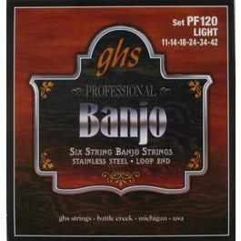 GHS PF120 6-String Banjo Set, 11-42