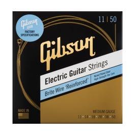 Gibson Brite Wire 'Reinforced' Electric Guitar Strings, Medium Gauge, 11-50