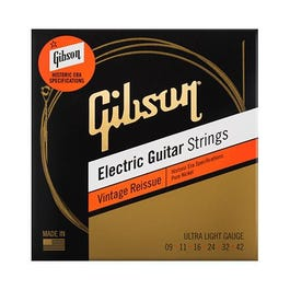 Gibson Vintage Reissue Electric Guitar Strings, Ultra Light, 9-42