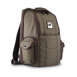 Gruv Gear Club Bag Flight-Smart Tech Backpack, Elite Pewter and Crimson