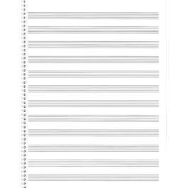 Hal Leonard 85. Spiral Book 12-StavePassantino Manuscript Paper