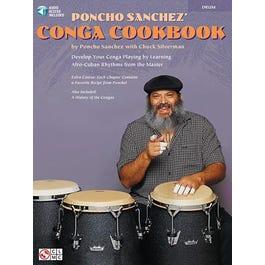 Hal Leonard Poncho Sanchez' Conga Cookbook-Percussion -Book + Audio Online