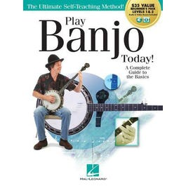 Hal Leonard Play Banjo Today! All-in-One Beginner's Pack-Book 1 &2- + Audio Online