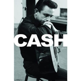 Hal Leonard Johnny Cash Wall Poster-16 inches x 20 inches
