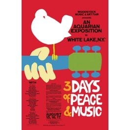 Hal Leonard Woodstock Classic Red Wall Poster-16 inches x 20 inches