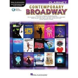 Hal Leonard Contemporary Broadway-Clarinet -Book + Audio Online