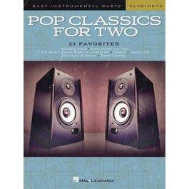 Hal Leonard Pop Classics for Two Clarinets