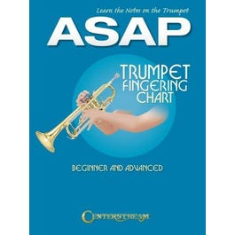 Hal Leonard Learn the Notes on the Trumpet ASAP-Trumpet Fingering Chart