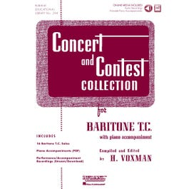 Hal Leonard Concert and Contest Collection for Baritone T.C. - Book+ Audio Online