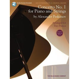Image for Peskanov Concerto No 1 for Piano and Strings (Piano Duet)-Book + Audio Online from SamAsh