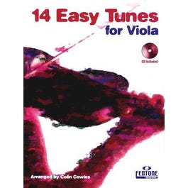 Hal Leonard 14 Easy Tunes for Viola-Book + CD