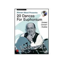 Image for Steven Mead Presents 20 Dances for Euphonium-Treble Clef (Book and CD) from SamAsh