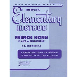 Hal Leonard Rubank Elementary Method - French Horn in F or E-Flat and Mellophone