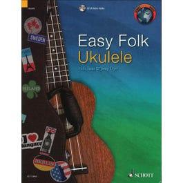 Hal Leonard Easy Folk Ukulele-29 Traditional Pieces-String -Book & CD