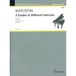 Hal Leonard Kapustin-5 Etudes in Different Intervals, Op. 68