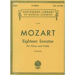 Image for Mozart 18 Sonatas for Violin and Piano from SamAsh