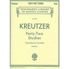 Image for Kreutzer 42 Studies for Viola from SamAsh