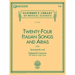Image for 24 Italian Songs & Arias of the 17th & 18th Centuries Medium High Voice-Book with Online Audio from SamAsh