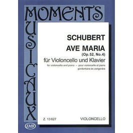 Hal Leonard Schubert-Ave Maria, Op. 52, No. 4Cello and Piano