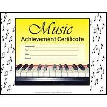 Hal Leonard Music Achievement Certificate