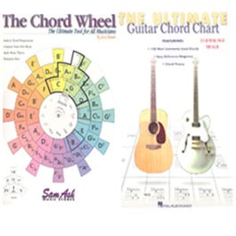 Image for Sam Ash Chord Wheel & The Ultimate Guitar Chord Chart from SamAsh
