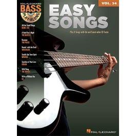 Hal Leonard Easy Songs-Bass Play-Along Volume 34