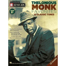Thelonious Monk Favorites-Jazz Play-Along Volume #91 (Book and CD)