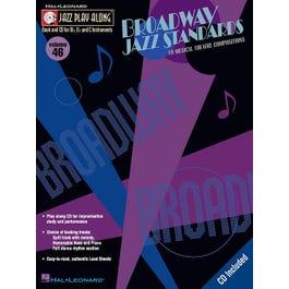 Hal Leonard Broadway Jazz Standards Jazz Play Along Series Volume 46 Book and CD