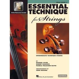 Hal Leonard Essential Technique 2000 -Strings 3 Cello-Book +  Online