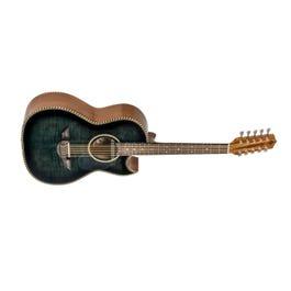Image for El Esta'ndar Acoustic-Electric Bajo Quinto Black Flame Maple from SamAsh