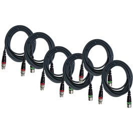 Image for 25' Musicians Microphone Cable, 6 Pack from SamAsh