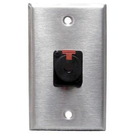 """Image for SP1 NJ3FP Wall Plate (with 1 Female Locking 1/4"""" Jack) from SamAsh"""