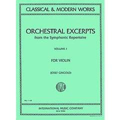 Image for Orchestral Excerpts from the Symphonic Repertoire - Volume 1 (Violin) from SamAsh