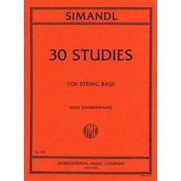 International Music Co. 30 Studies for Development-Franz Simandl