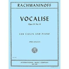 Image for Rachmanioff Vocalise Op34 #14 for Violin from SamAsh