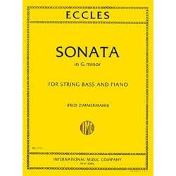 Image for Sonata in G minor (ZIMMERMANN) by Eccles for String Bass from SamAsh