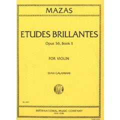 Image for Mazas Etudes Brillantes Opus 36