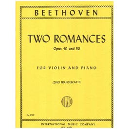 Image for Beethoven Two Romances Opus 40 and 50 for Violin from SamAsh