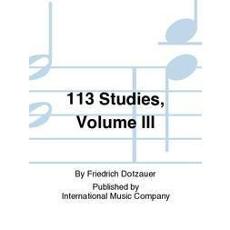 International Music Co. Dotzauer-113 Studies, Volume III