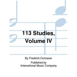 International Music Co. Dotzauer-113 Studies-Cello-Vol.IV