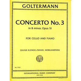 International Music Co. Goltermann-Concerto No. 3 in B minor, Op. 51